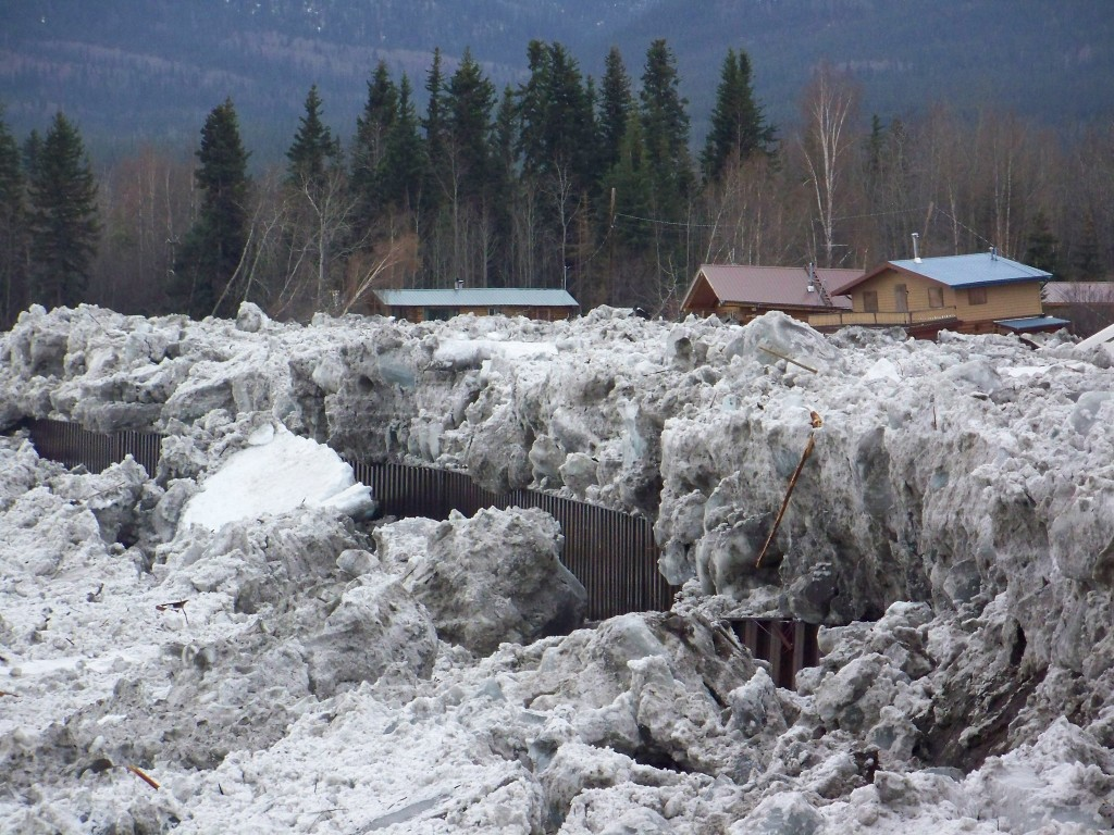 Flood Waters Recede in Eagle but Ice Remains