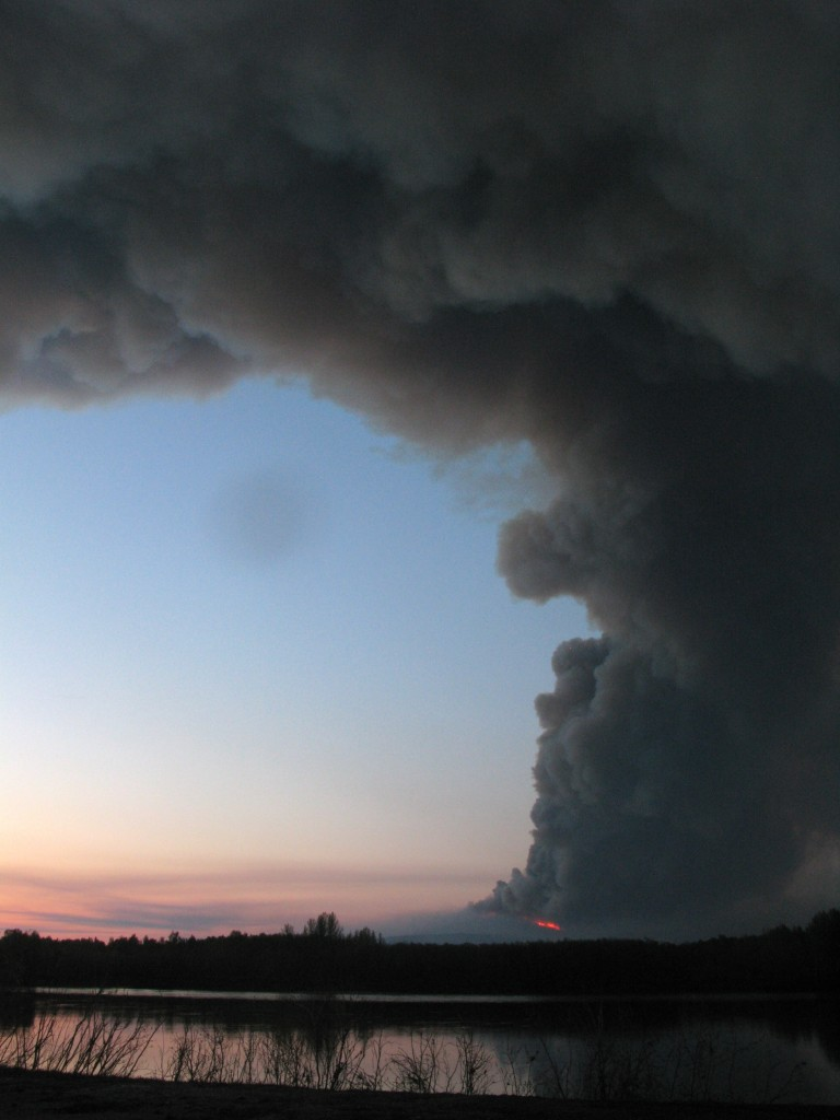 State Fights First Major Wildfire