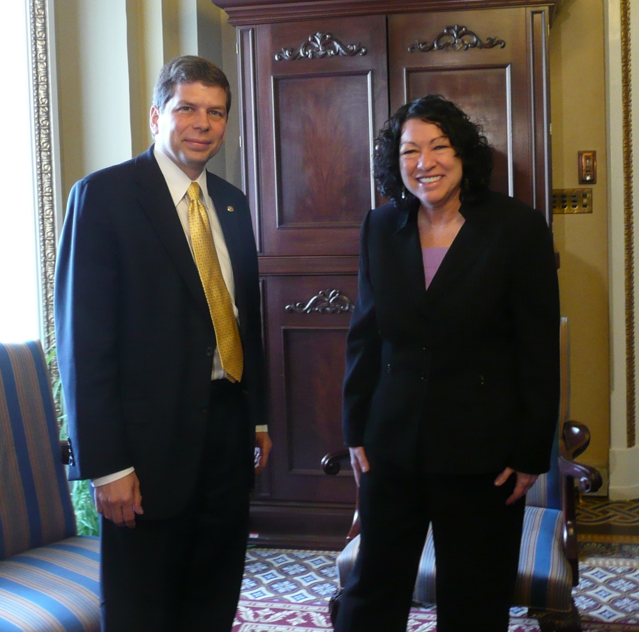Senator Mark Begich Meets with Supreme Court Nominee Sonia Sotomayor
